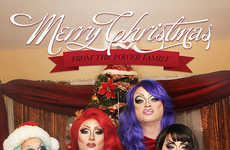 Drag Family Christmas Photos - The Power Family Show Us Their Funny Family Christmas Photos