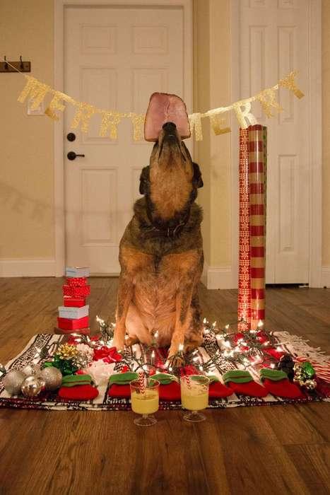 Treat-Balancing Doggie Carols