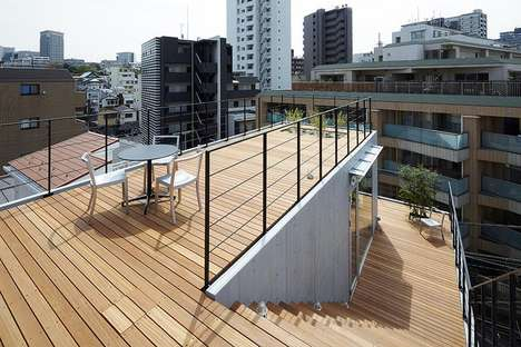 Unusual Outdoor-Based Residences - The Balcony House in Tokyo Values the Outdoors