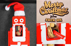 USB-Equipped Nutcrackers - Suck UK's Wooden Nutcracker reveals a Festive Surprise Inside a Walnut