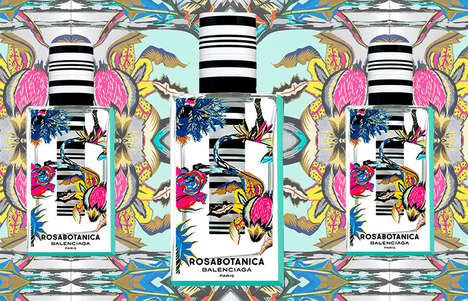 Pattern-Mixing Perfume Packaging - Balenciaga's Rosabotanica Perfume Packaging Mixes Prints & Scents