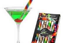 Sugary Rainbow Straws - These Edible Candy Straws Come in Three Tasty Flavors