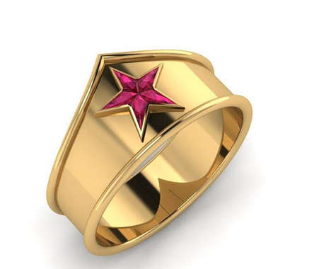 Symbolic Amazonian Princess Jewelry - This Dazzling Wonder Woman Ring is Fit for a Queen