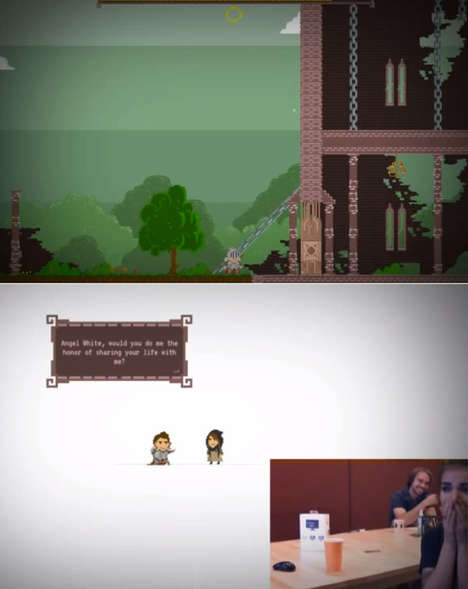 Pixelated Video Game Proposals - Robert Fink Designed a Short Video Game Which Ends With a Proposal
