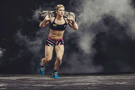 Athletic Action Lookbooks - Reebok's Fitness Clothing Collection Photos Show Athletes Hard at Work