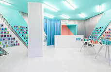 Pastel Tech Shops - Doctor Manzana Embraces a Candy Land-Like Redesign that is Highly Memorable