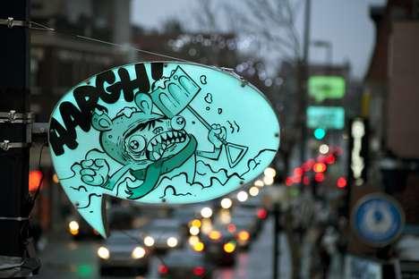 Cartoon Bubble Streetlights
