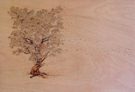 Burnt Wood Illustrations