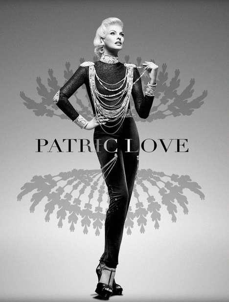 Glamorously Grayscale Fashion Ads