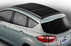 Solar-Paneled Cars - The C-MAX Solar Energi Concept by Ford Ups the Ante for Electric Vehicles