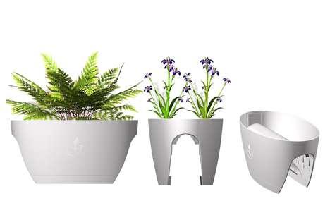 Railing-Specific Garden Pots