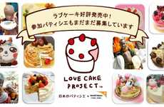 Charitable Missing Piece Pastries - World Vision Japan's Love Cakes Help to Feed Children in Africa