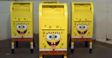 Cartoon Sponge-Edition Mailboxes