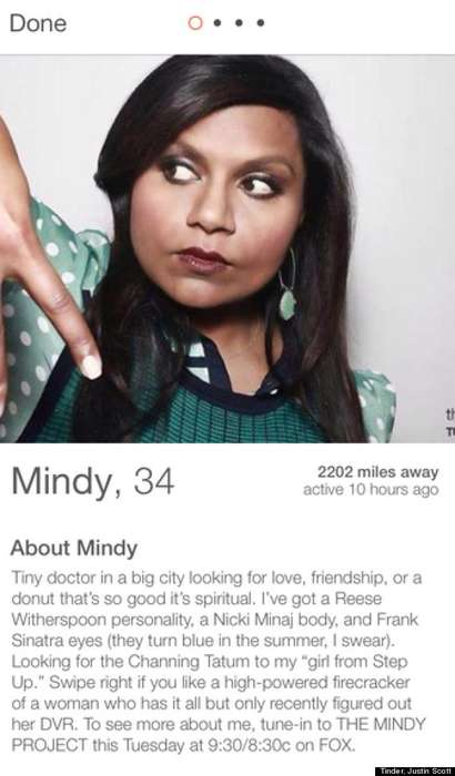Fictional Dating Profile Stunts - Characters from The Mindy Project Show Were Introduced to Tinder