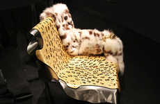 Exotic Animal-Inspired Seating - The Chaise Lion by Maria Pergay is Created for Fendi