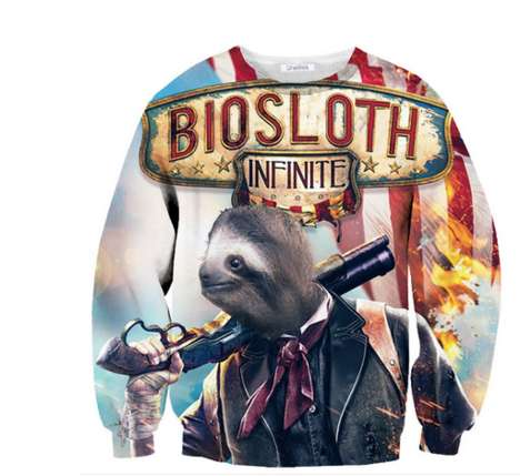 Sloth-Inspired Gamer Apparel - These BioSloth Shirts are Fun Jabs at a Serious Video Game