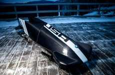 Iconic Automobile Brand Bobsleds - The BMW Bobsled is Just In Time for The Winter Olympics