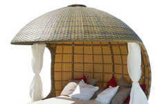 Spherical Outdoor Loungers - The Cocoon Beach Provides a Relaxing Bubble to Rest In