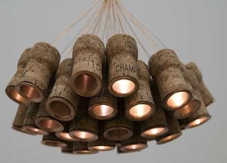 Recycled Celebratory Cork Lighting