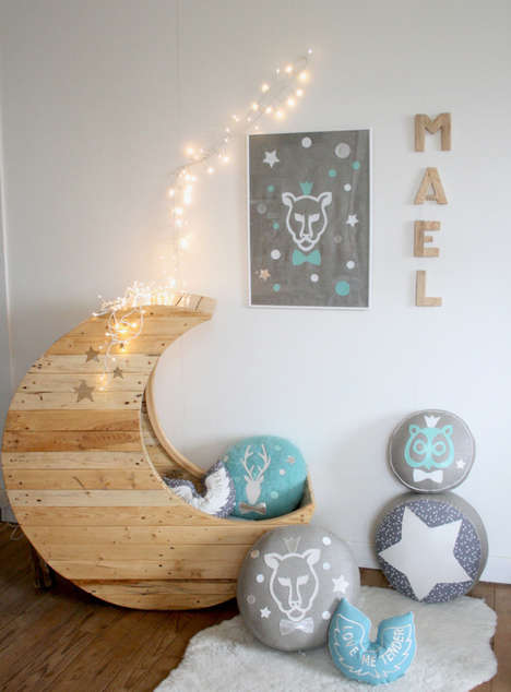 Cosmic Crescent-Shaped Cribs - The Cute Baby Crib Just Might Make You Want to Start a Family