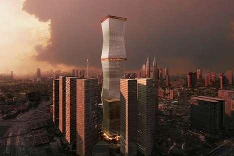 Retractable Sheath Skyscrapers