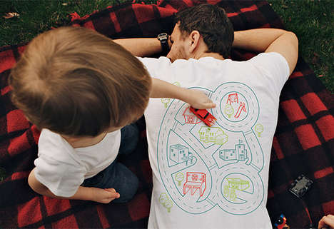 Toy Track-Printed Shirts - The Playmat Railroad Printed Shirt is an Adorable & Fun Piece of Clothing