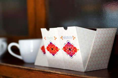 Divine Drawer-Like Cartons - Taj Mahal Tea Packaging Invites Access in a Sophisticated Way