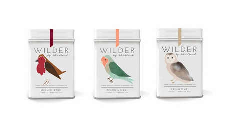Bird-Branded Infusions - Wilder Tea Packaging Features a Range of Fetching Fowl