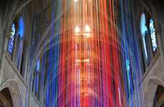 Cascading Ribbon Installations