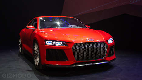 Luxury Laser Car Lights - The New Audi Quattro Laserlight Raises Expectations at CES 2014