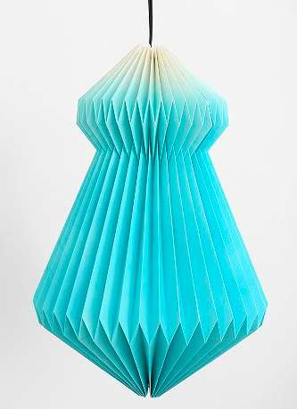 Paper-Made Ombre Lamps