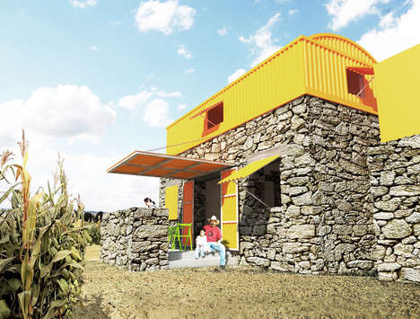 Charitable Housing Designs - Casa Uno by Hans Mayr Helps Homeless Mexican Families Find Shelter