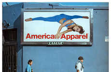 Sensually Silly Billboard Photography - The American Apparel by Thomas Alleman Shows Ill-Fitted Ads