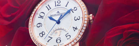 Sleek Romanticized Diamond Timepieces