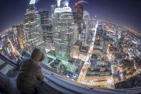 Icy Cityscape Photography