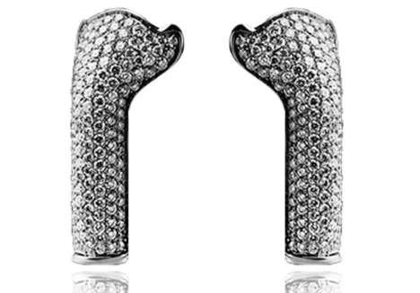 Diamond-Embellished Earphone Covers