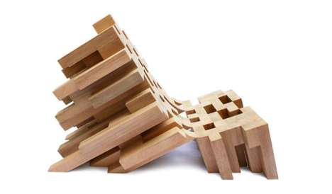 Pixelated Timber Perches