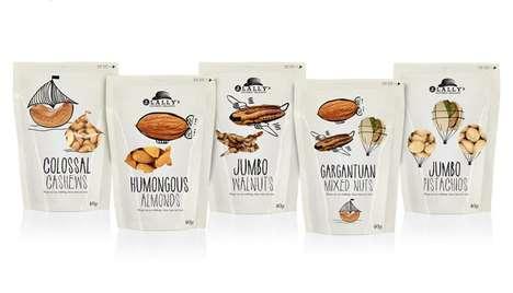 Doodled Snack Packaging
