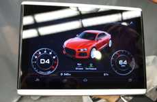 Vehicle-Navigating Tablets - The Innovative Audi Android Tablet Debuted at CES 2014