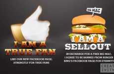 Loyalty-Testing Burger Campaigns - This Unusual Burger King Facebook Campaign Intended to Lose Fans