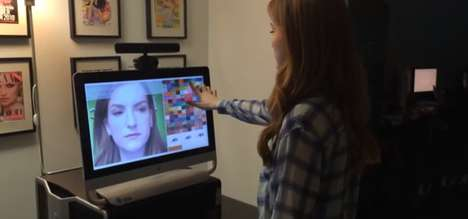 Augmented Reality Makeup Mirrors - ModiFace's Augmented Reality Mirror Debuted at CES 2014