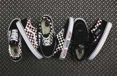 Checkered Skateboard Sneakers - The Vans Classics Van Doren Series Boasts a Bold Pattern