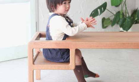 Infant-Accommodating Tables - The Baby In Table is a Playful an Family-Friendly Hybrid Furnishing