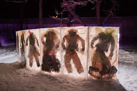 Frozen Clothing Art Installations