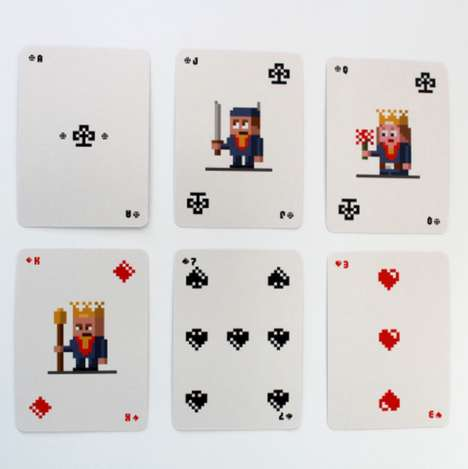 Retro Pixelated Playing Cards