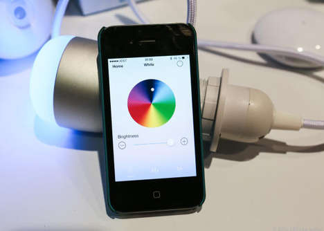 Smartphone-Affected Fixtures - The BeeWi Color Smart Light Can Be Modified Easily with a Mobile App