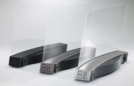 Clear Glass Transparent Speakers