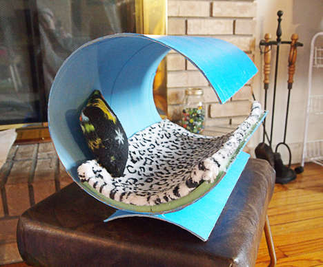 DIY Contemporary Feline Beds - This Modern Cat Bed is Budget-Friendly and Simple to Make