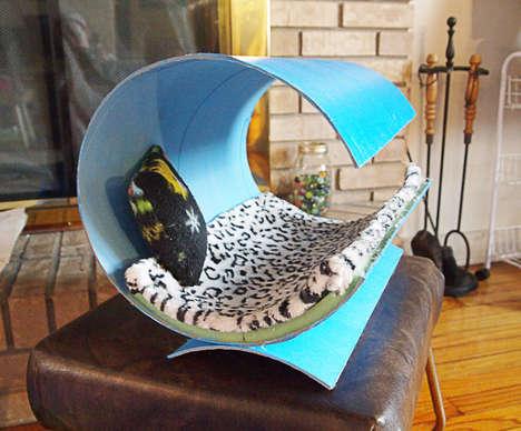 DIY Contemporary Feline Beds