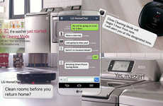 Appliance-Communicating Software - The LG HomeChat Launched at CES 2014 & Gives Life to Appliances